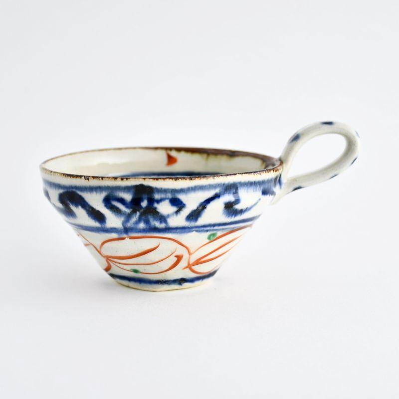 画像1: 安南赤絵片手スープ碗 南窯 (1)