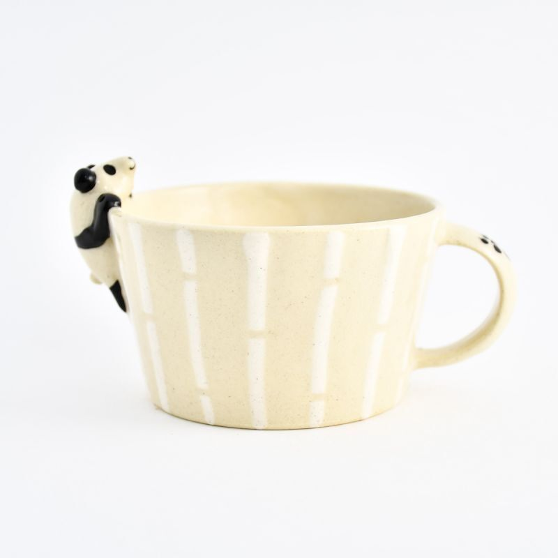 画像1: パンダスープカップ ま工房 (1)