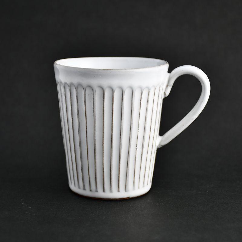 画像1: ミルク 切立マグカップ 藤山窯 (1)